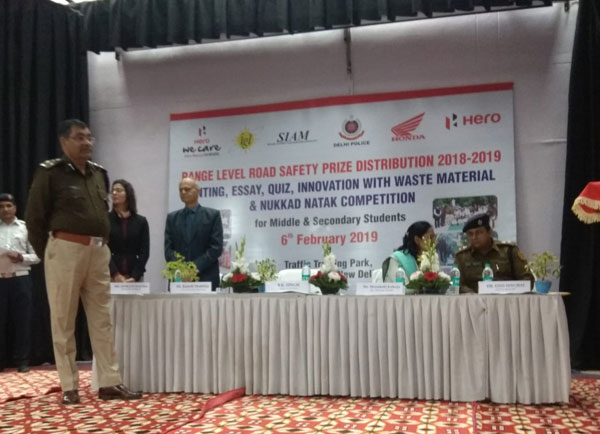 Winners in Road Safety Quiz Competition at Range- Level