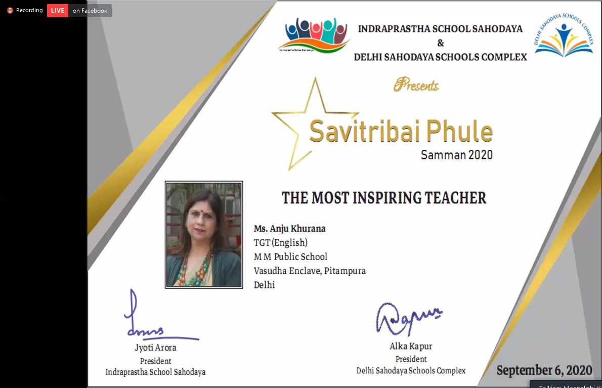 Achiever of Inspiring Teacher Award