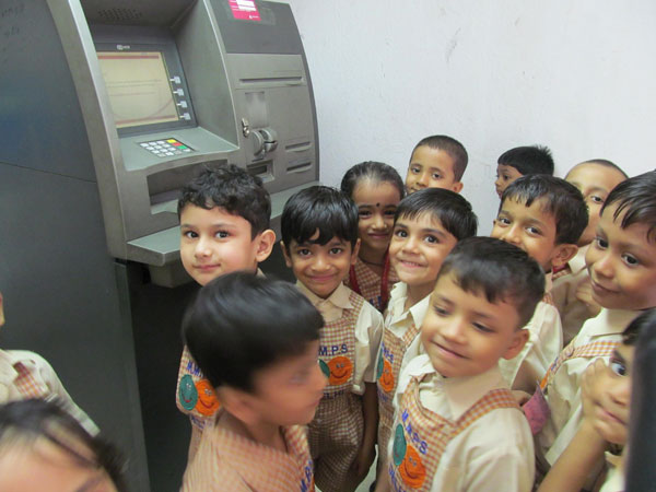 Bank Visit by L.K.G & U.K.G Classes