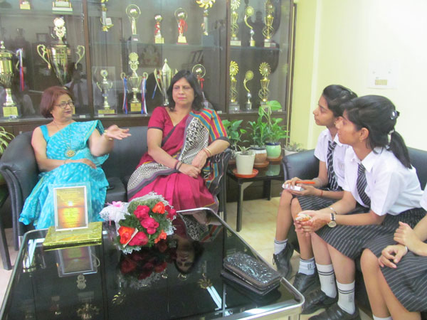 An Interactive session with the principal of Gargi College.