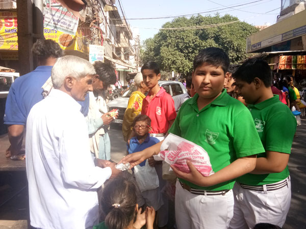 Visit To temple for food donation by SWAS Club