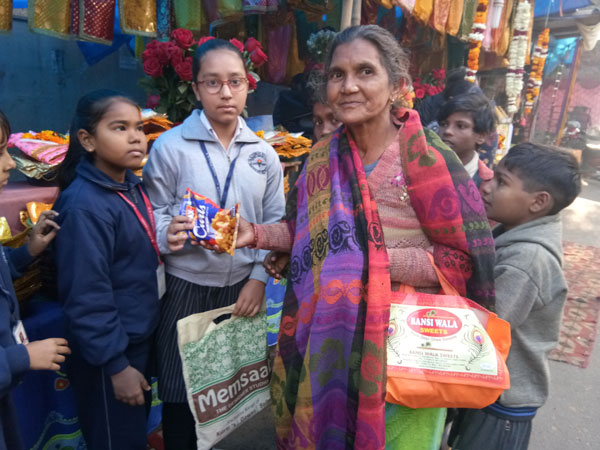 Food Donation by Class V and SWAS Club