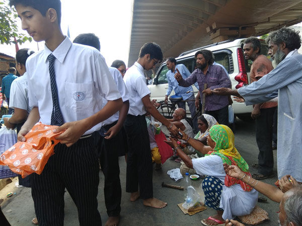 Food Donation by Class IX