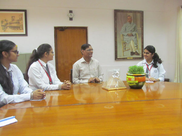 Interaction with Principal of Sri Ram College Of Commerce.