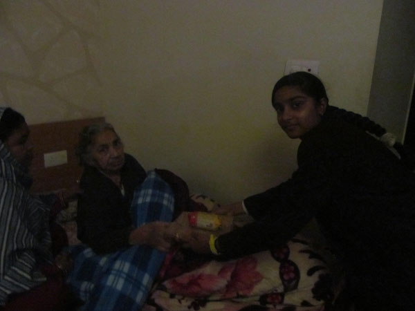 Visit to Old Age Home on 22-01-2015 and 23-01-2015