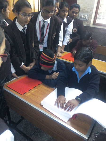 Visit to blind School on 12-12-2014