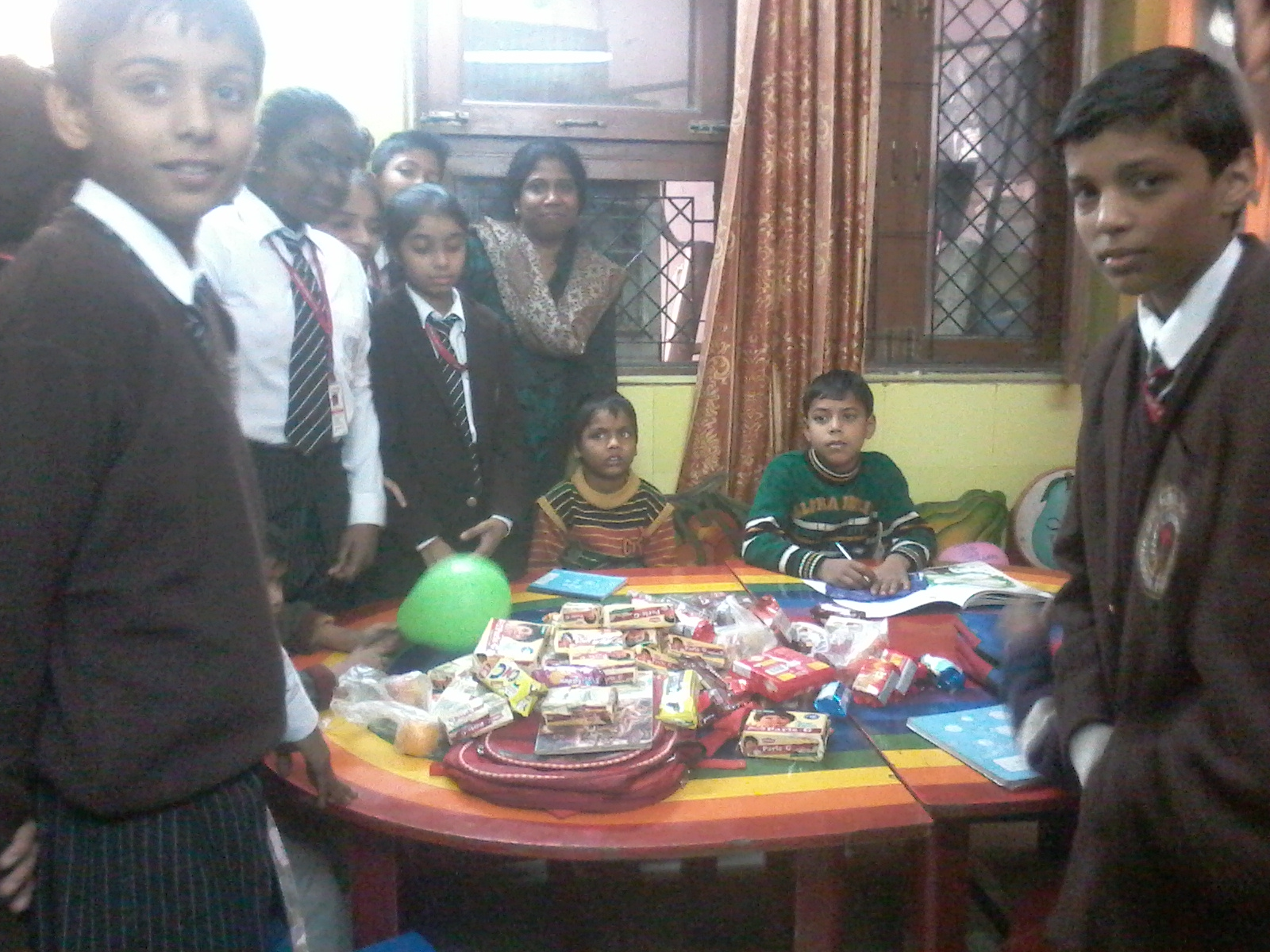 VISIT TO ORPHANAGE BY SWAS CLUB ON 2-12-2014